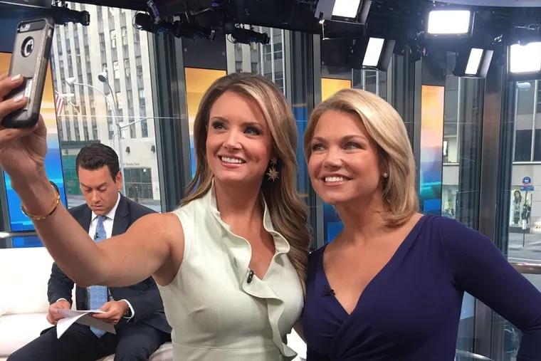 Fox & Friends news anchor Jillian Mele takes a selfie with former Fox News host and current Department of State spokeswoman Heather Nauert.