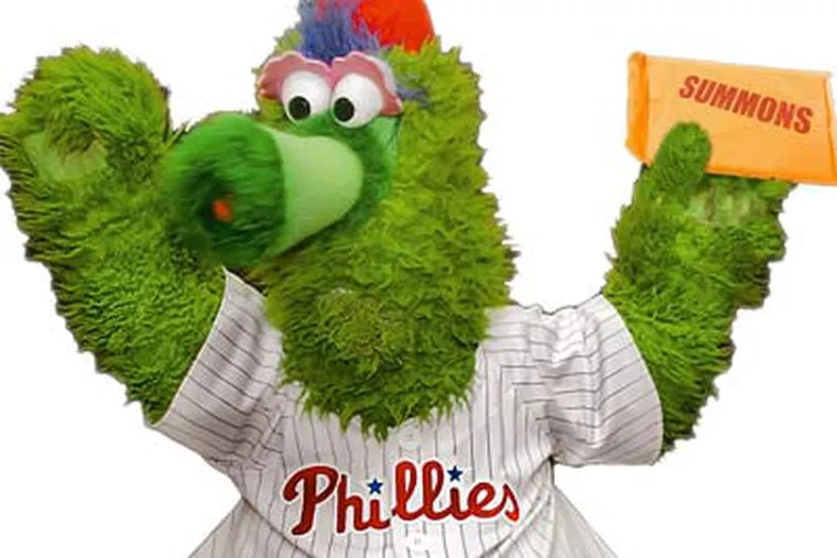 The Phillie Phanatic, one of the most popular mascots in pro sports, is no stranger to lawsuits. (Daily News illustration)