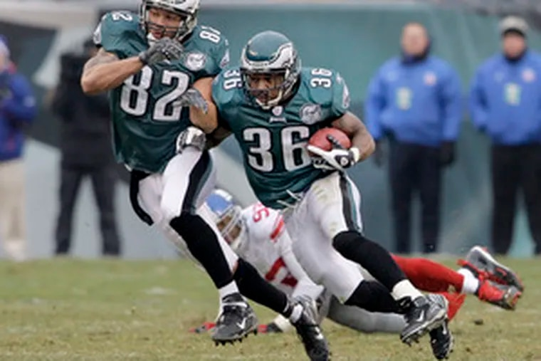 """Brian Westbrook is on course to become just the 31st player in NFL history to amass 2,000 yards from scrimmage in a season. """"I am happy that I'm able to reach my personal goals,"""" he says."""