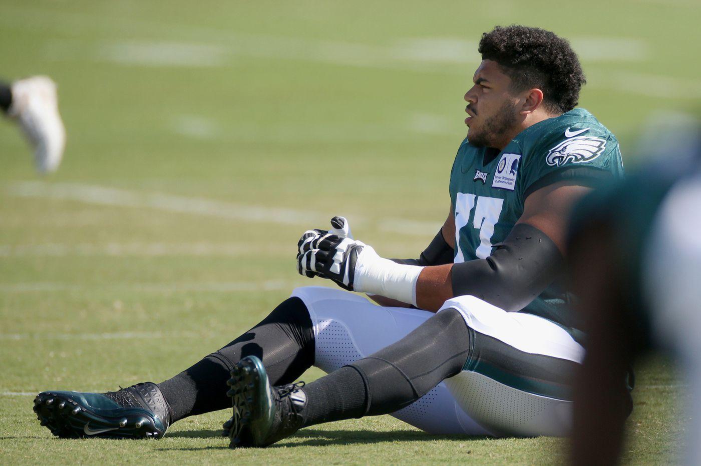 Eagles Practice Observations: Andre Dillard worry? Deep ball rising; DE decisions