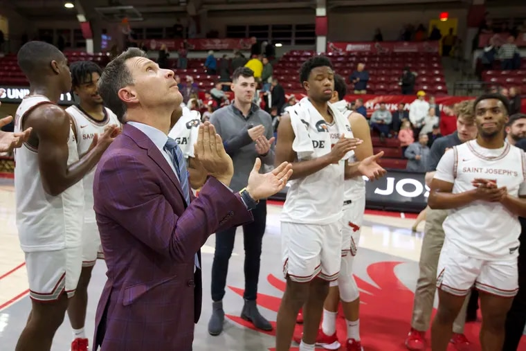 Billy Lange is entering his first stretch of Big 5 games as St. Joseph's head coach.