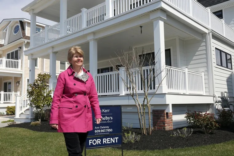 Ann Delaney, an Avalon real estate agent, outside one of the rental properties she manages in Avalon.