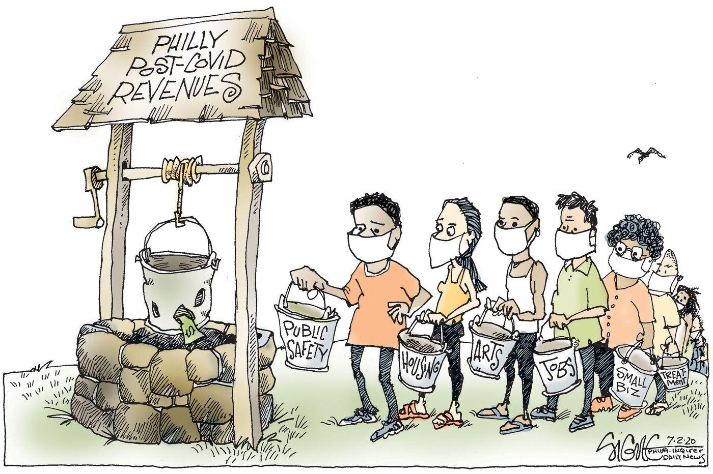 Political Cartoon: The bucket list for Philadelphia's budget