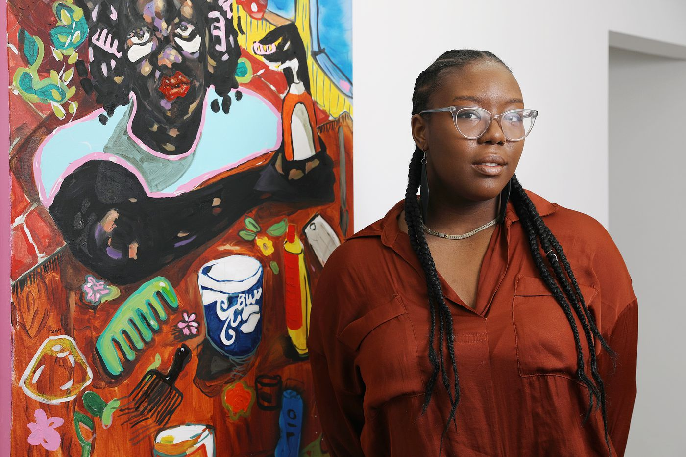 This rising-star just opened her first solo art show in Philly. Then came the coronavirus closures.