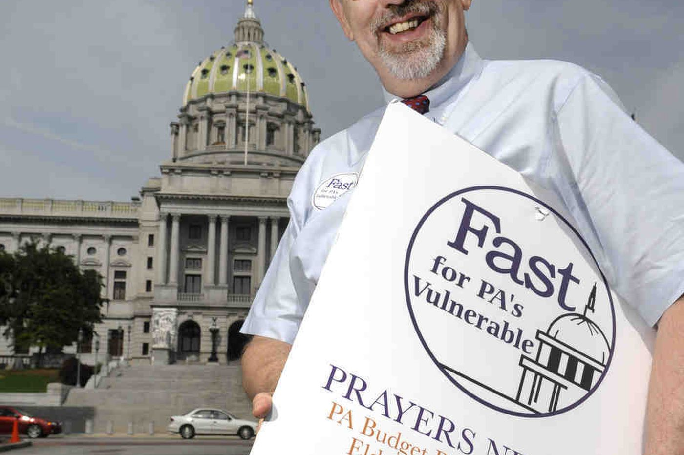 In Pennsylvania capital, former spokesman fights powers he once promoted