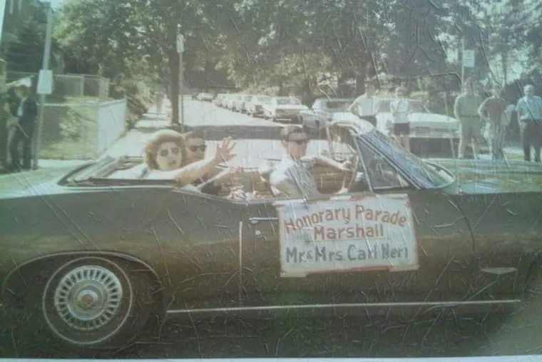 The 1971 marshals of the historical Lawncrest Fourth of July parade ride through the Northeast Philly neighborhood.