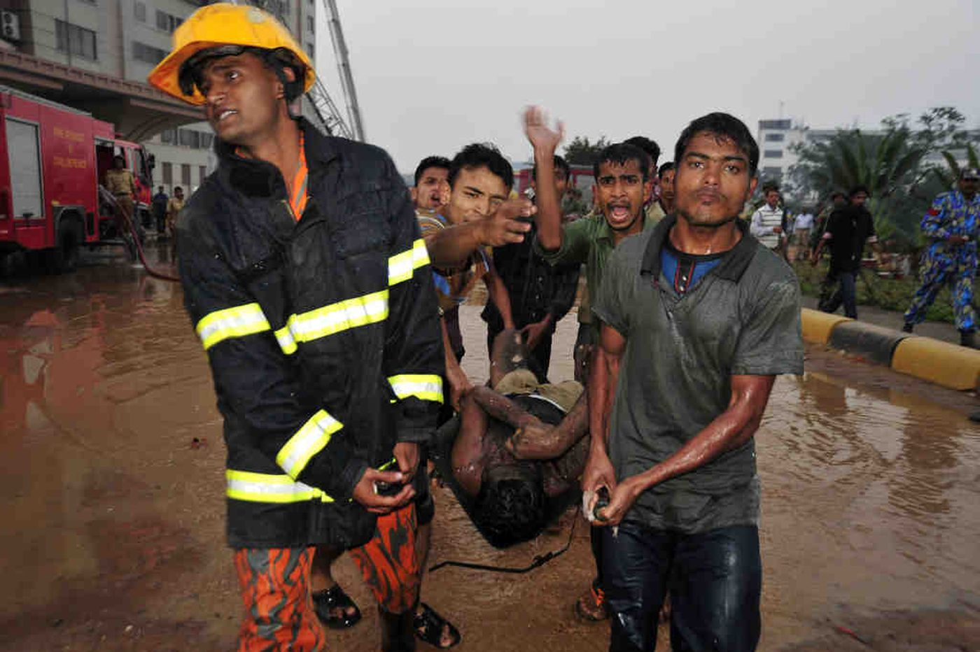 Fire at big garment factory in Bangladesh kills dozens