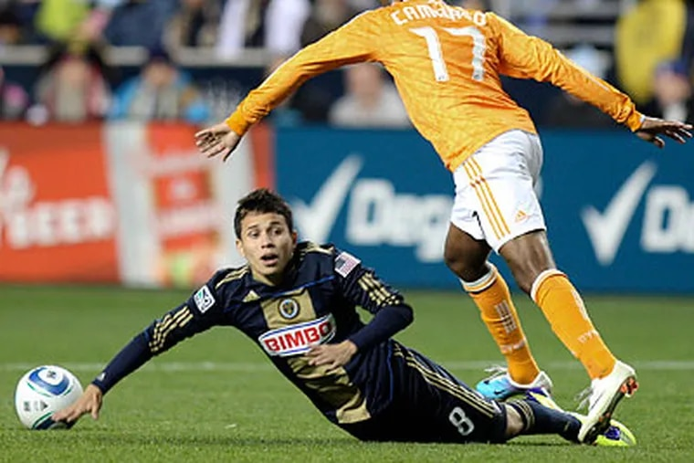 Roger Torres has plenty of creativity in his game, but he's one of the Union's shortest players. (Steven M. Falk/Staff Photographer)