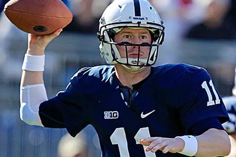 Matt McGloin passed for 395 yards against Indiana. (Gene J. Puskar/AP)