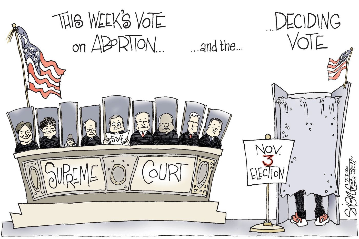 Political Cartoon: Counting the votes for abortion rights