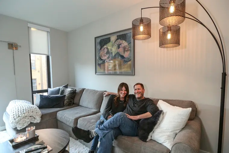 """Marci and Mitch Rose moved in January to the recently renovated National Building in Old City. """"There's a mixture of ages, people just starting off in life and older people in a different chapter of their lives,"""" Marci said."""