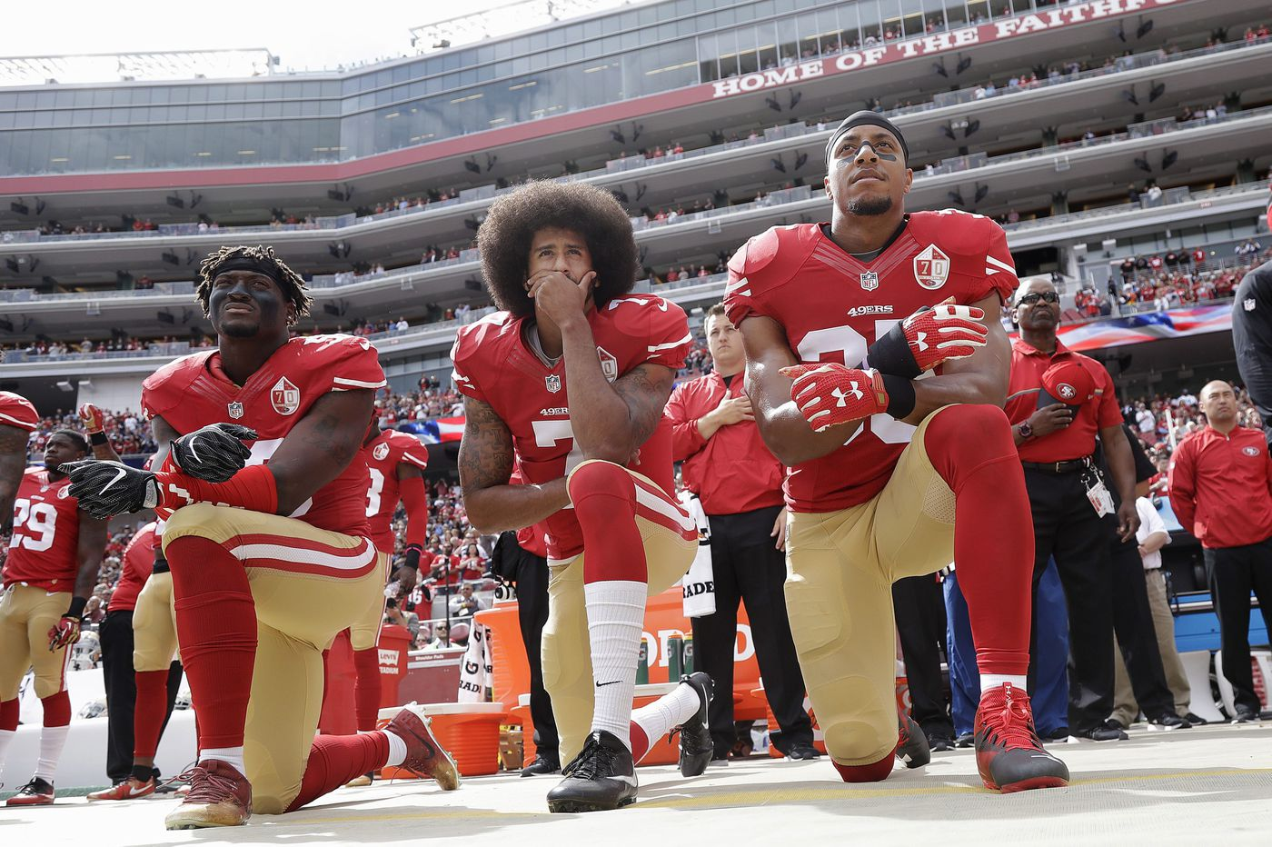 'Take a Knee Pad:' New pro-Kaepernick art exhibit to open in Old City, days after Nike reveal