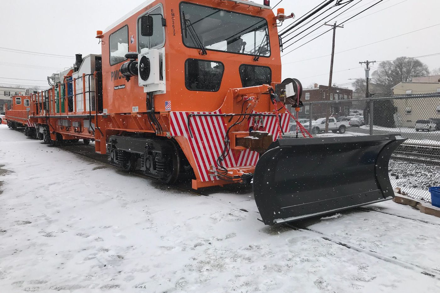 SEPTA unveils plow for snow-susceptible Norristown High Speed Line