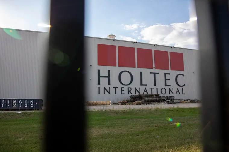 The outside of the Holtec International facility in Camden. Holtec was credited with $4.8 million dollars in annual phantom property taxes, which appears to have helped the company win $260 million in economic development incentives from New Jersey.