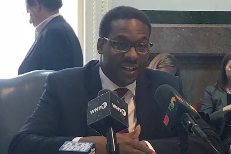 Reginald Ross, director of Ecometrics at Jones Lang LaSalle, talks to reporters about his firm's study on Philadelphia's 10-year tax abatement program.