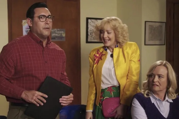 Ruben Amaro, Jr. appears as Ruben Amaro, Sr. on an episode of the 1980s Jenkintown-set show, 'The Goldbergs,' on ABC.