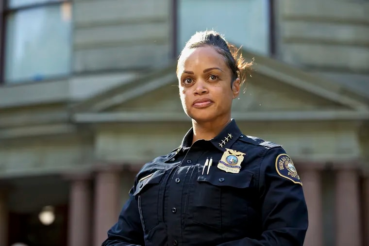 Portland Police Chief Danielle Outlaw in August in Portland. She has been tapped to lead Philadelphia's police department.