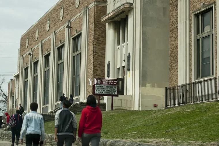 Exterior of John Bartram high School. April 2 2014