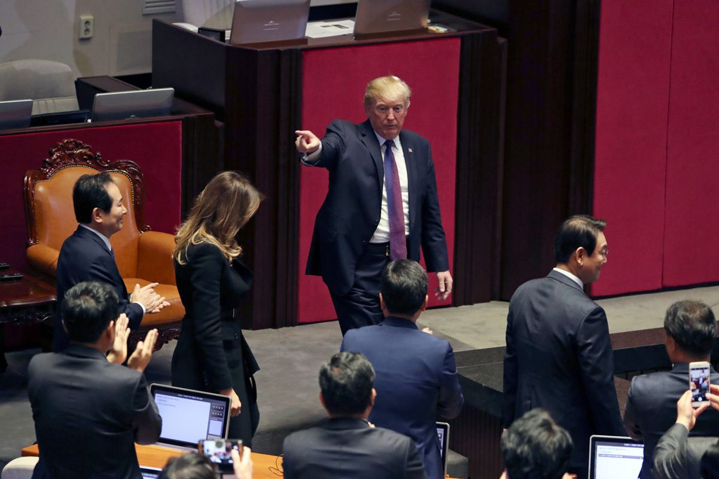 Trump promotes his New Jersey golf course during speech to South Korea parliament
