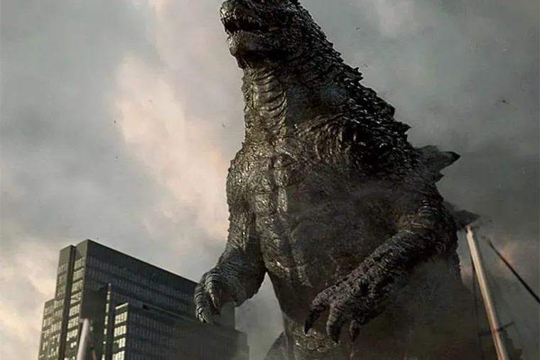 Godzilla stomps all over the Pacific Rim in the latest installment, starring Bryan Cranston, Aaron Taylor-Johnson, and Elizabeth Olsen. (Warner Bros.)