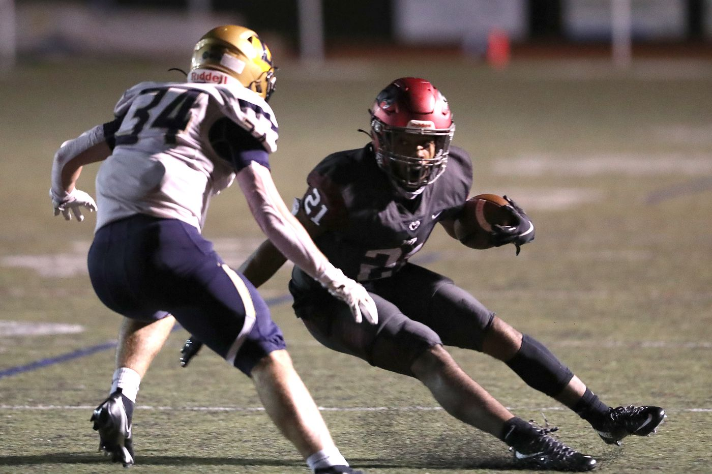Senior delivers for No. 1 St. Joseph's Prep football after waiting three years to show his skills