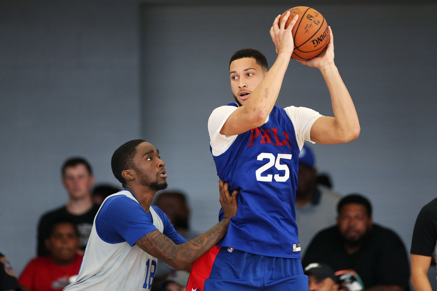 Ben Simmons playing exclusively at power forward in Sixers' practices; Shake Milton takes over point guard duties