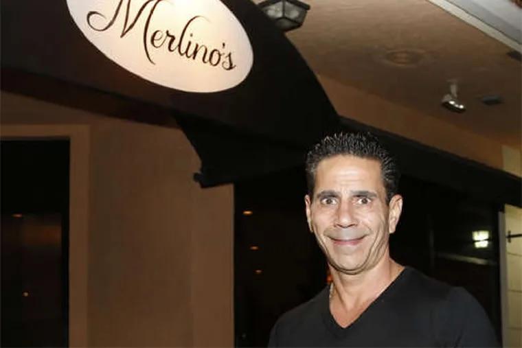 Joey Merlino in front of his restaurant Merlino's in Boca Raton, Fla.