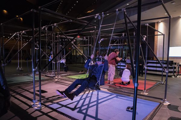 The Kimmel Center adds a free virtual reality swing set to its lobby