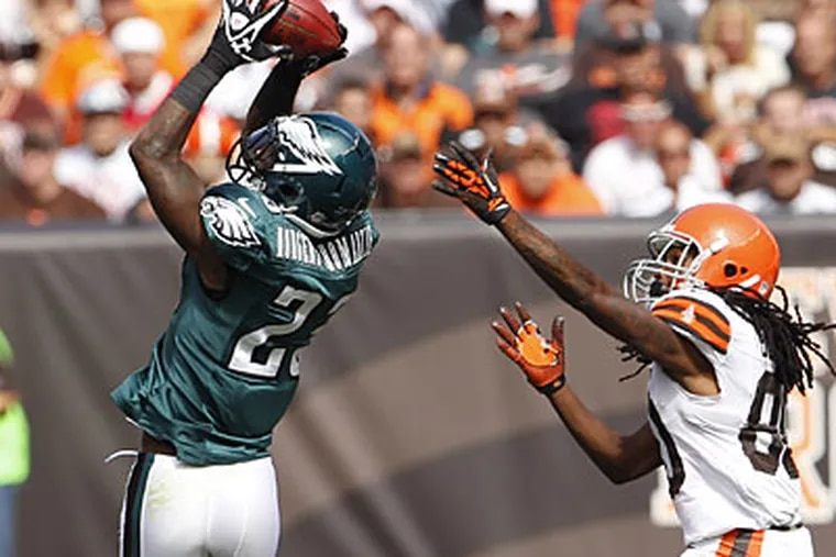 Dominique Rodgers-Cromartie grabbed two interceptions in the Eagles' win. (Ron Cortes/Staff Photographer)