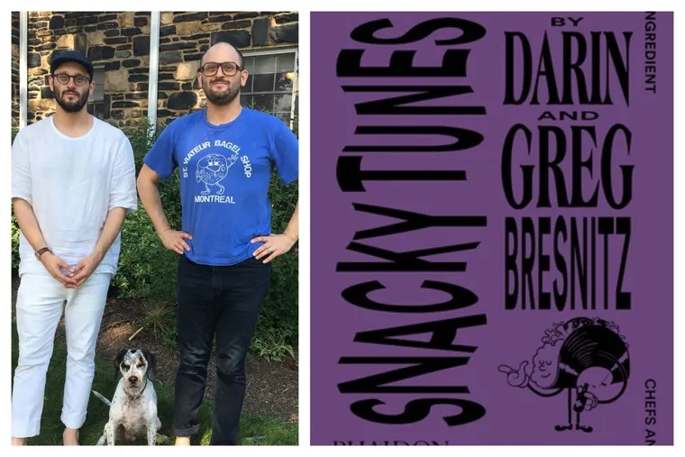 Greg (left) and Darin Bresnitz have converted their popular Snacky Tunes podcast into a book.
