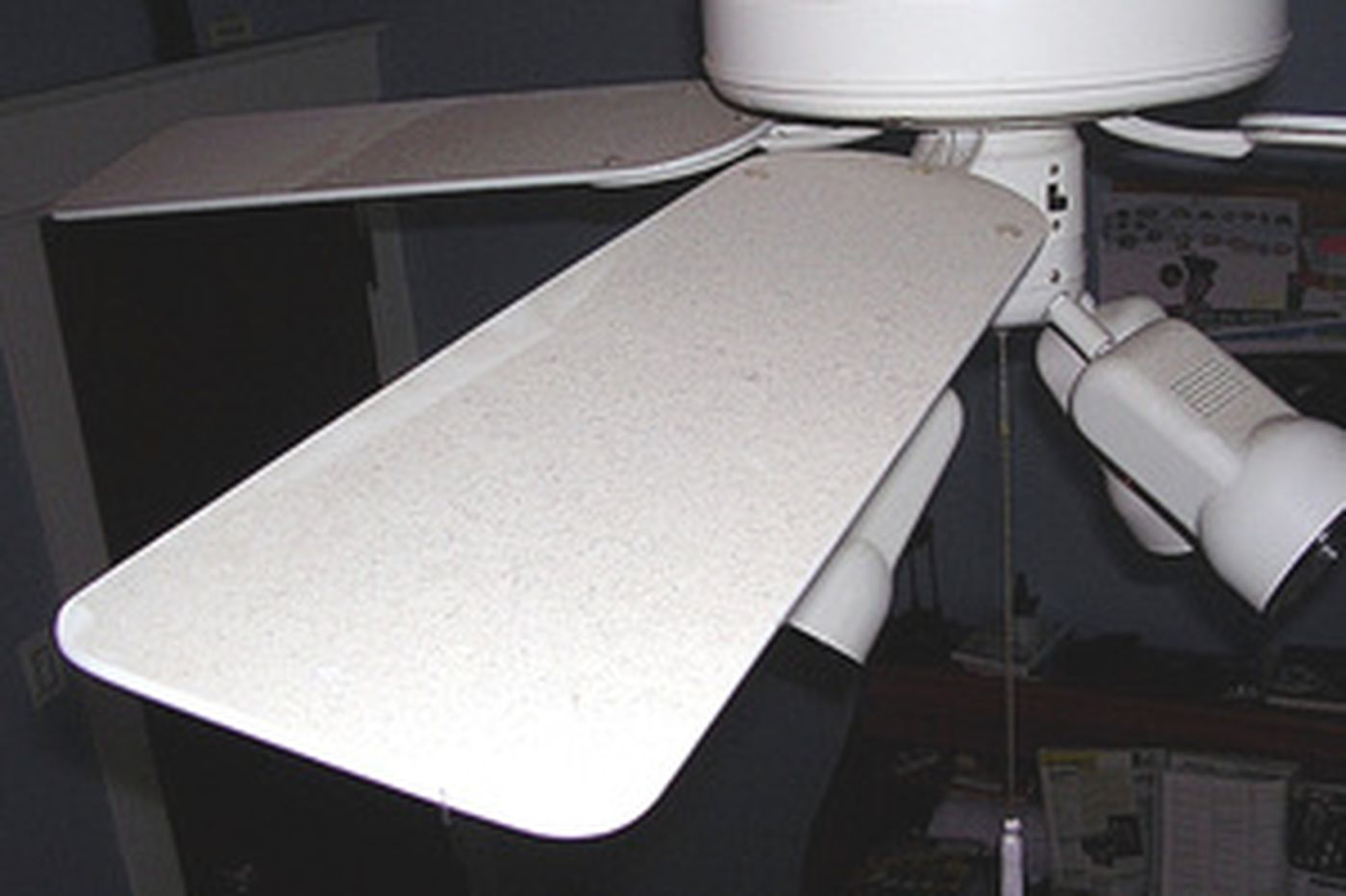 Your Place   The blades of ceiling fans should be dusted regularly