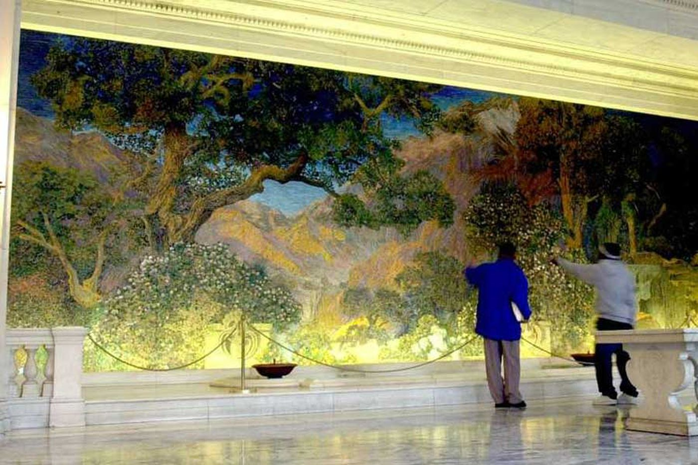 City: Renovations threaten Maxfield Parrish mural