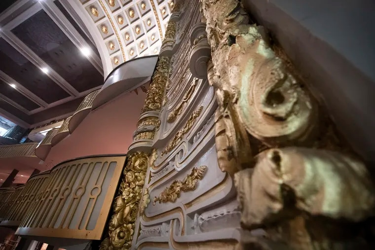 Detailed of the trim work preserved on the newly renovated Metropolitan Opera House located on 858 N. Broad Street, Philadelphia. Monday, November 20, 2018.