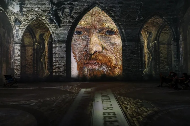 """An image from """"Van Gogh: The Immersive Experience"""" taken in Antwerp. The Dutch artist is the focus of myriad interactive exhibits with simiilar names touring the U.S. and the world."""