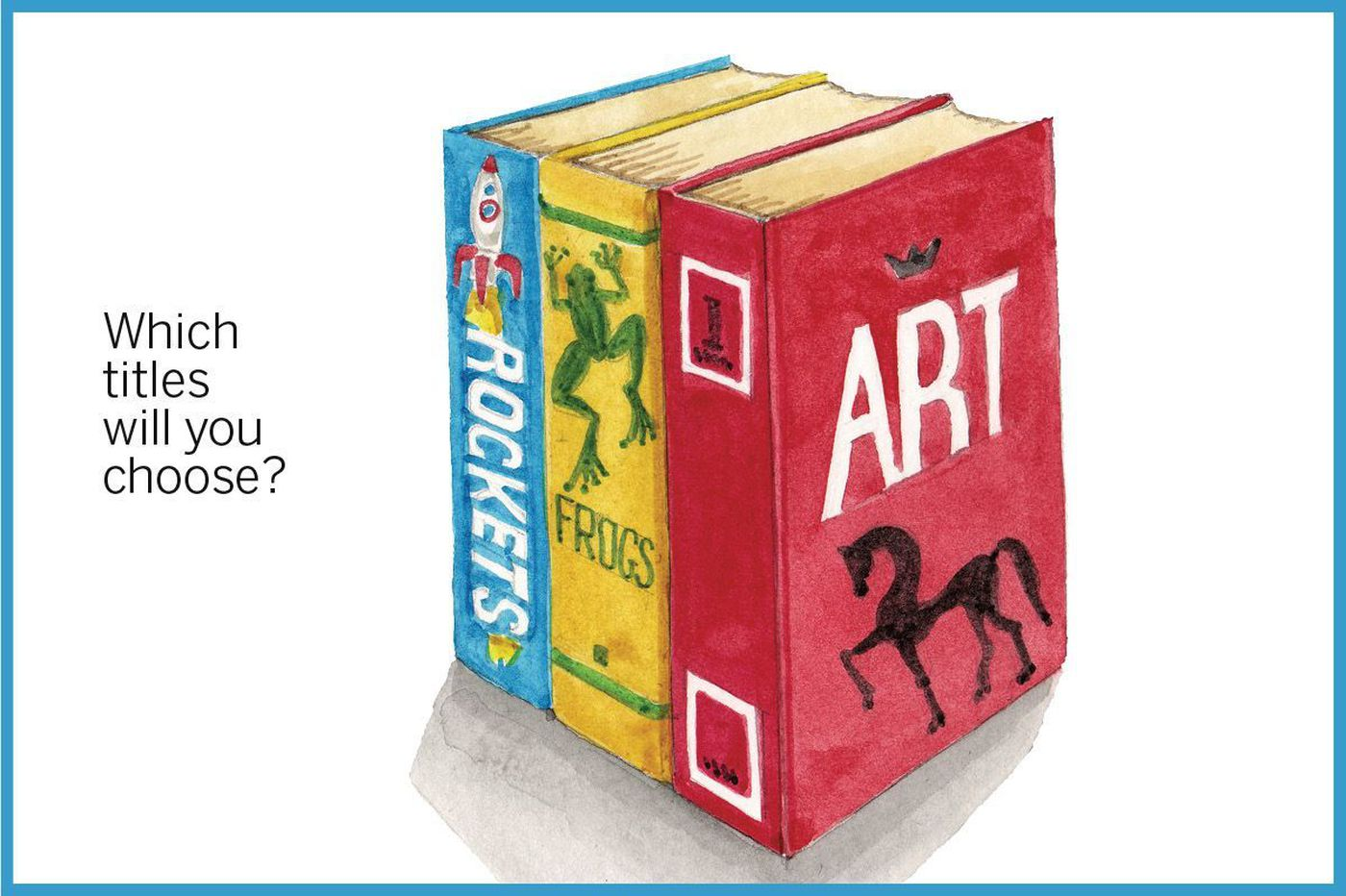 Hey, kids: Draw these books in 2-point perspective for a chance to see your artwork published