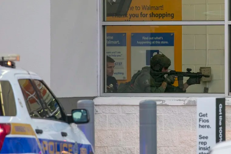 Police were called to the Walmart on Easton Road for a report of a shooter at the store.