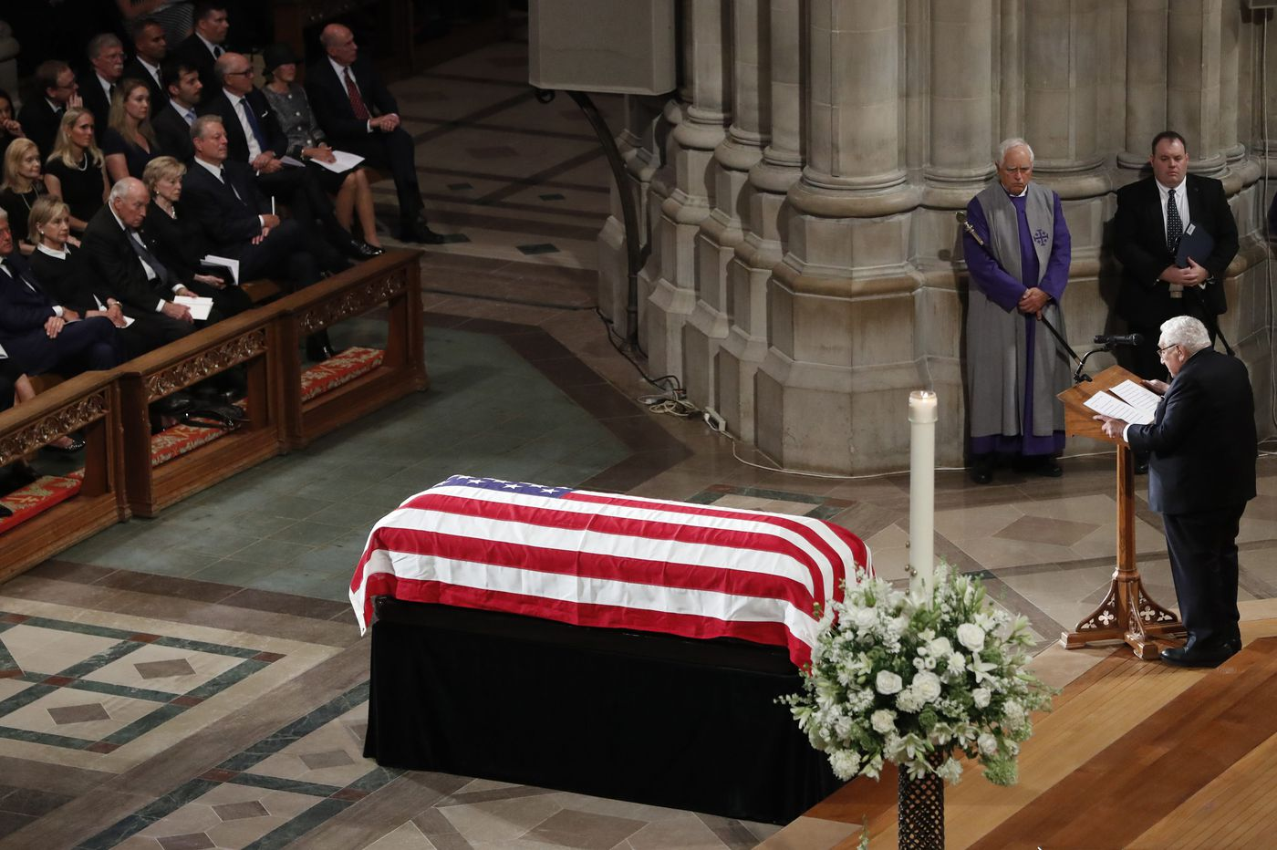 At John McCain funeral, a daughter, former presidents honor senator — draw contrast to Trump