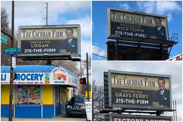 What three billboards outside Center City say about advertising to neighborhoods