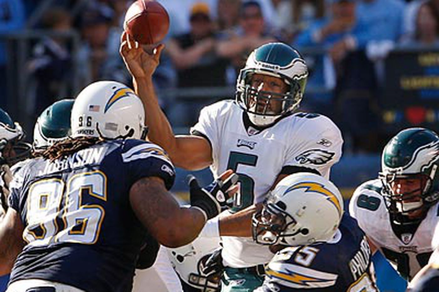 In loss to Chargers, McNabb puts up career passing numbers