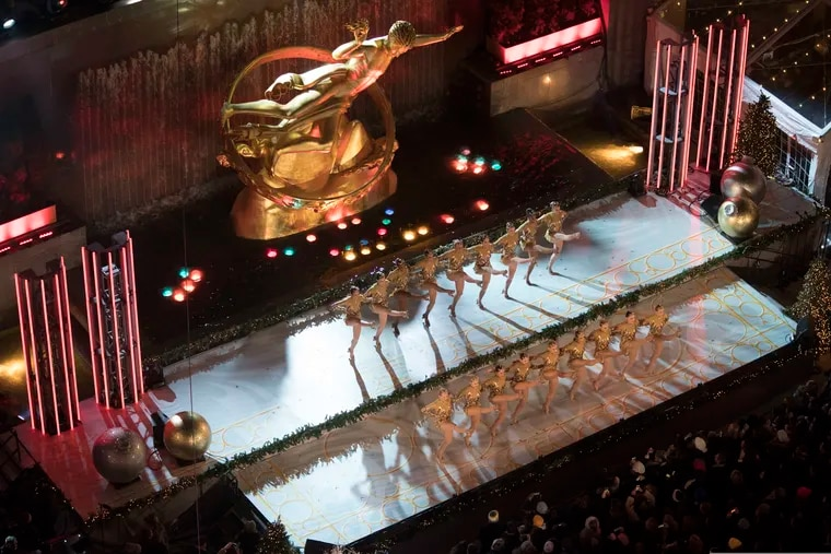 The Rockettes, performing at last year's Rockefeller Center Christmas tree lighting ceremony.