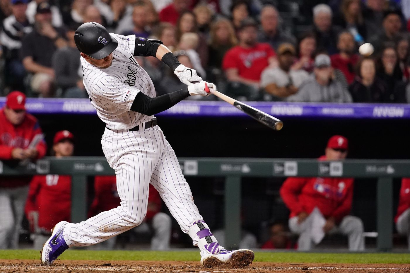 Phillies fall to Rockies on Charlie Blackmon's walk-off home run, lose Scott Kingery and Andrew McCutchen to injuries