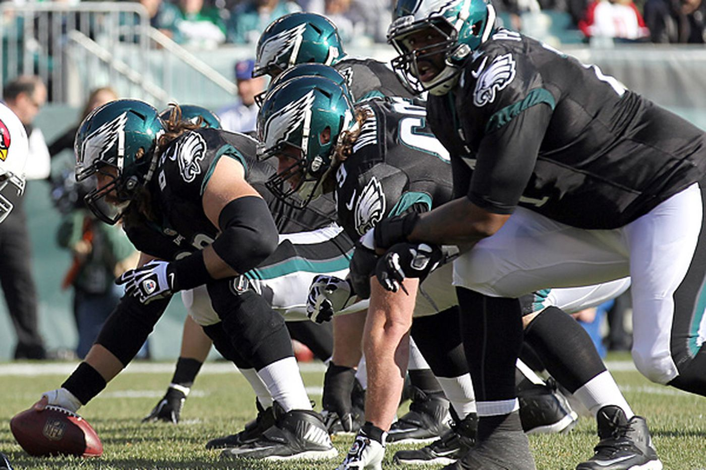 Eagles' offensive line is an explosive force