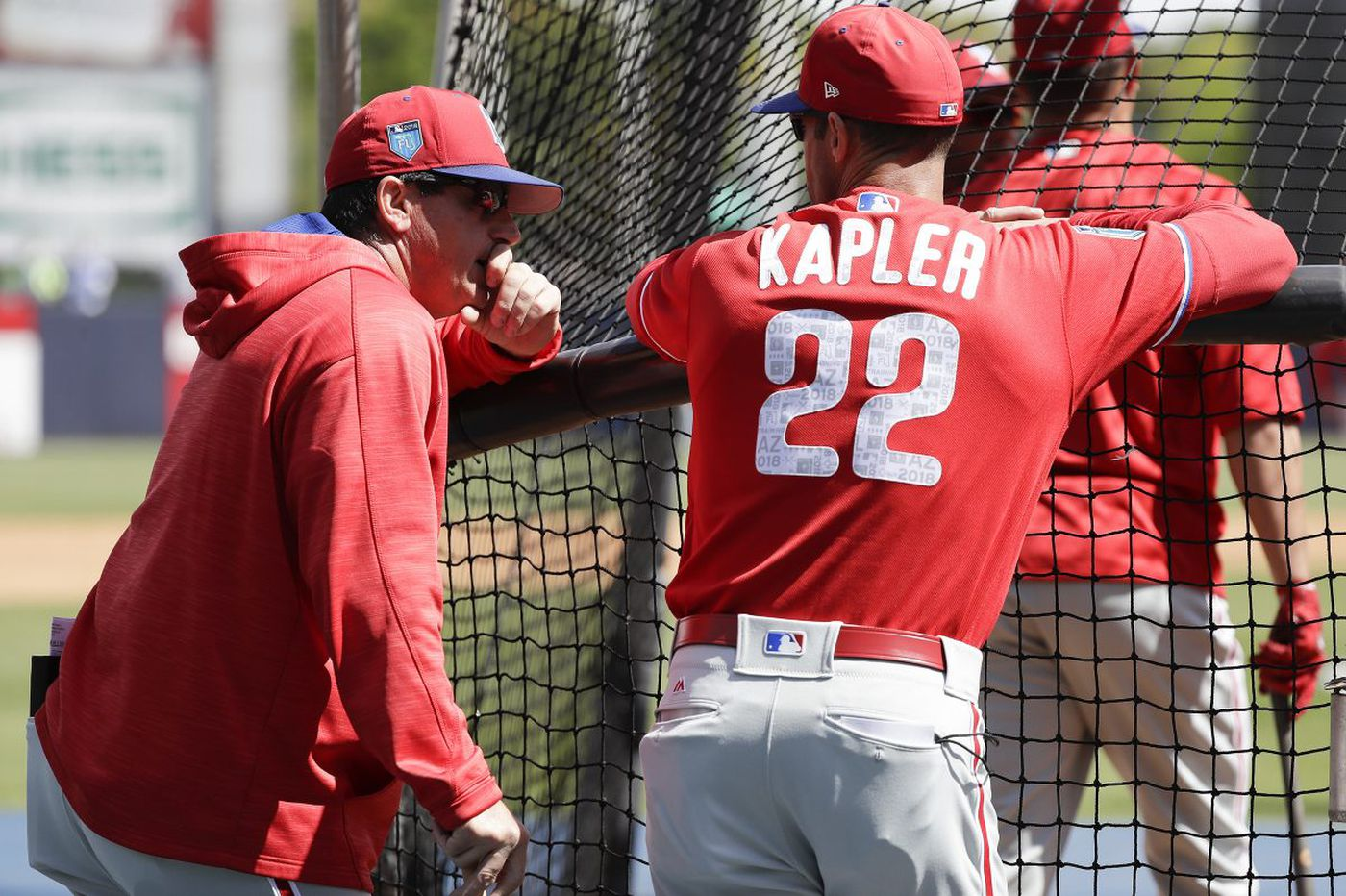Gabe Kapler is joined in dugout by a baseball lifer in Rob Thomson | Matt Breen