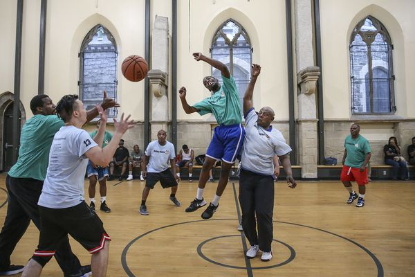Inside the North Philly basketball league for homeless men: 'It helps me to realize who I really am' | Mike Jensen