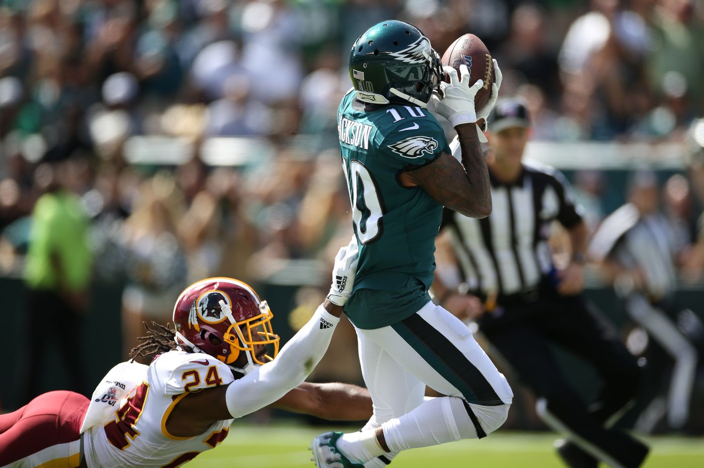 Eagles 32, Redskins 27 - as it happened