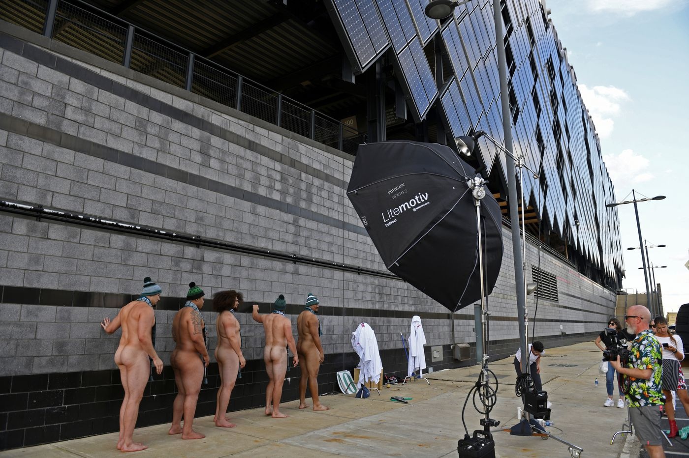 Eagles offensive line's ESPN Body Issue photos released