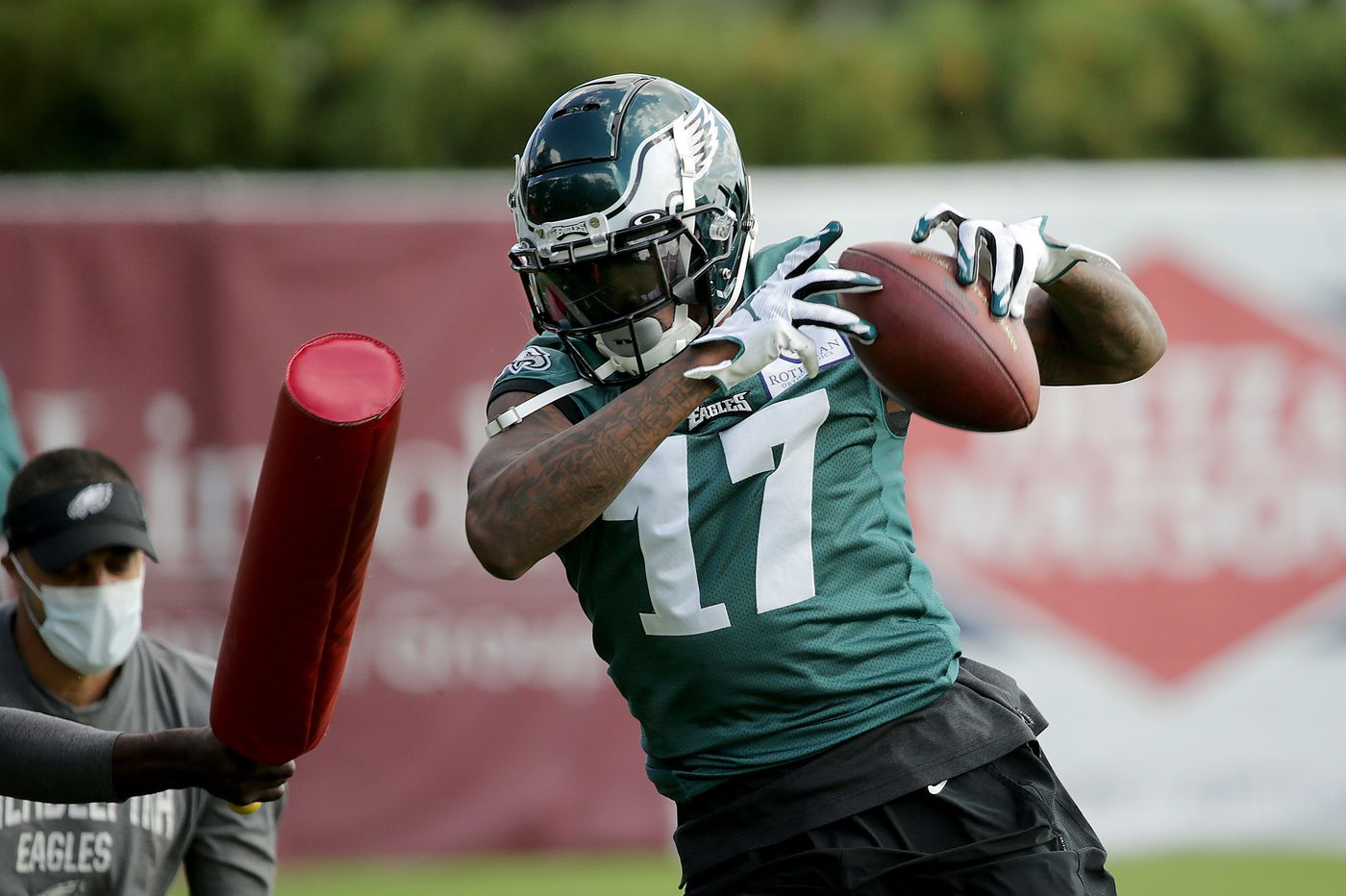 The Eagles were missing a ton of players at Wednesday's practice