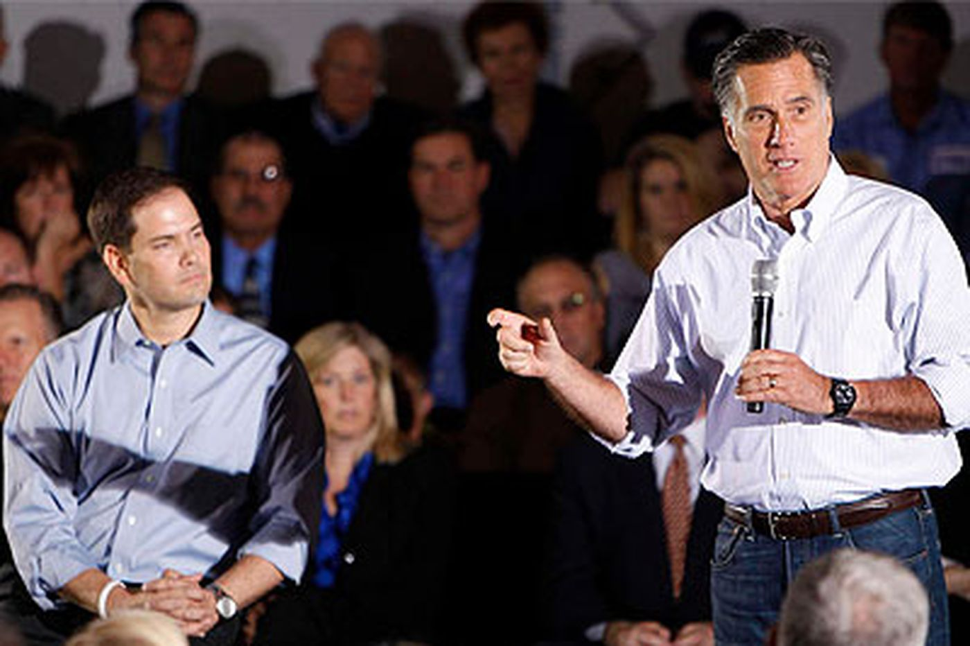 Romney campaigns outside Philly with Rubio