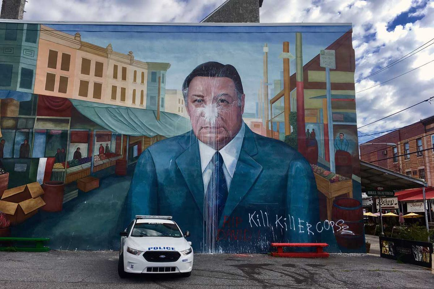 Frank Rizzo mural defaced in South Philly