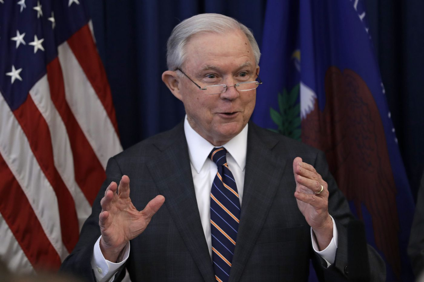 Sessions will remain in job until at least midterms